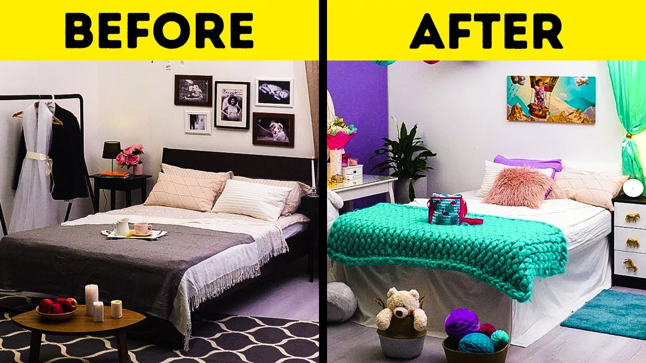 24 EASY WAYS TO UPGRADE YOUR ROOM - YouTube