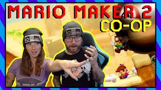 My Non-Gamer Wife Played Super Mario Maker 2 Co-op With Me!