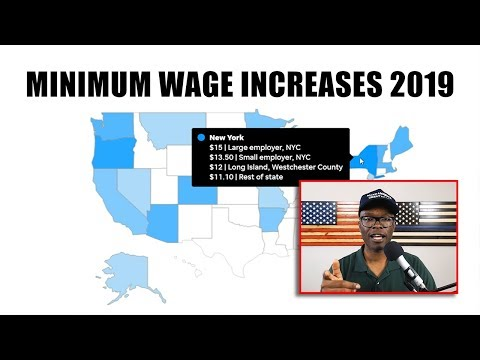 Minimum Wage Increases For 2019 Affects 20 States; 24 Counties and Cities