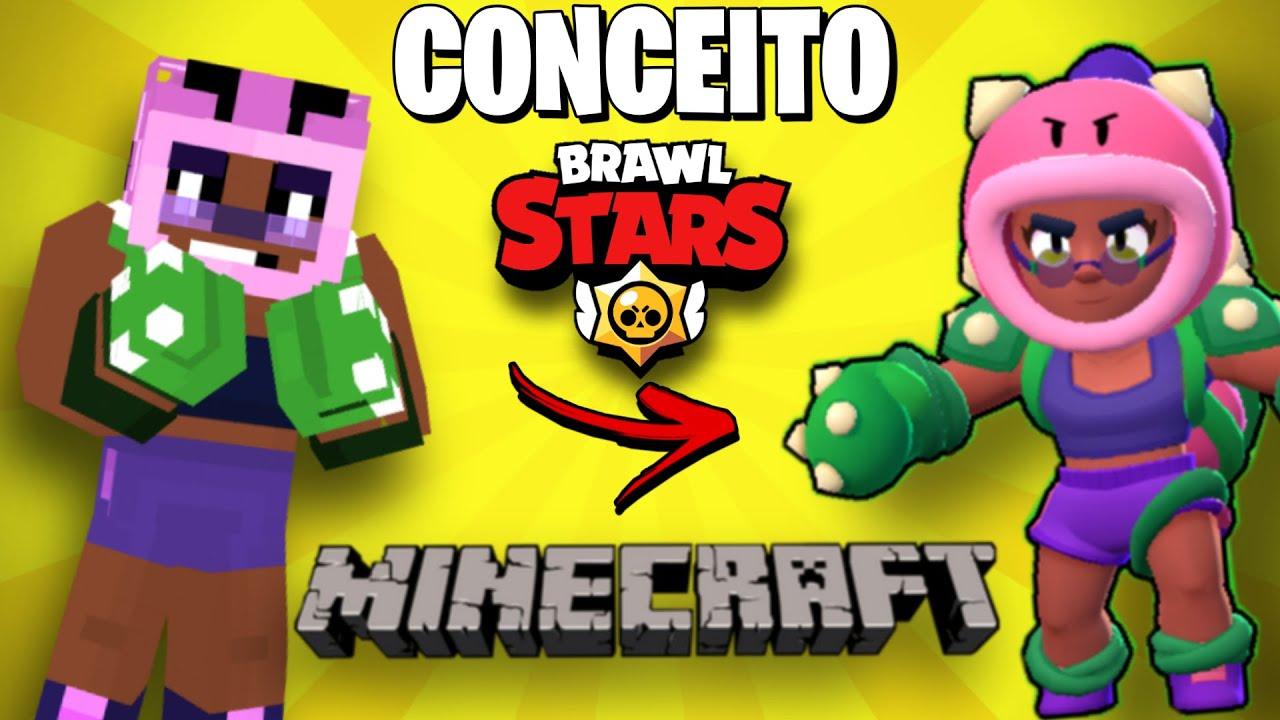 SKIN ROSA MINECRAFT do BRAWL STARS!! INCRÍVEL! OS MELHORES CONCEITOS!