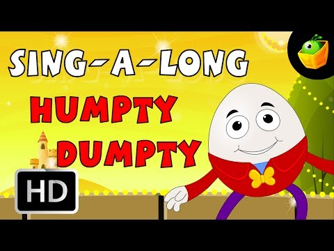 Karaoke: Humpty Dumpty - Songs With Lyrics - Cartoon/Animated Rhymes For Kids