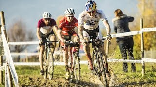 Cyclocross Racing Through an Old Swiss Village
