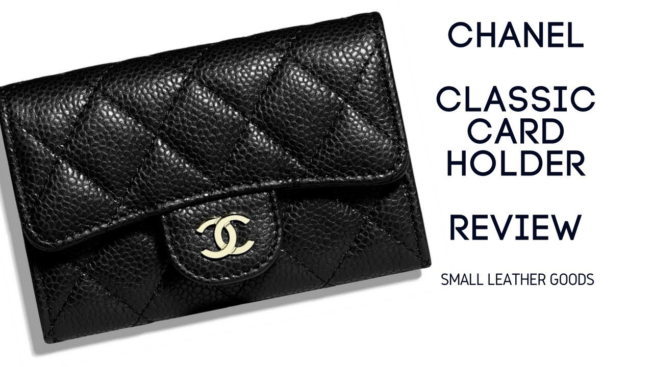 00d8a93e61298a Chanel Classic Card Holder in Caviar - Unboxing and Review - YouTube