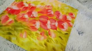 РИСУЕМ ТЮЛЬПАНЫ АКРИЛОМ Весенние цветы ART