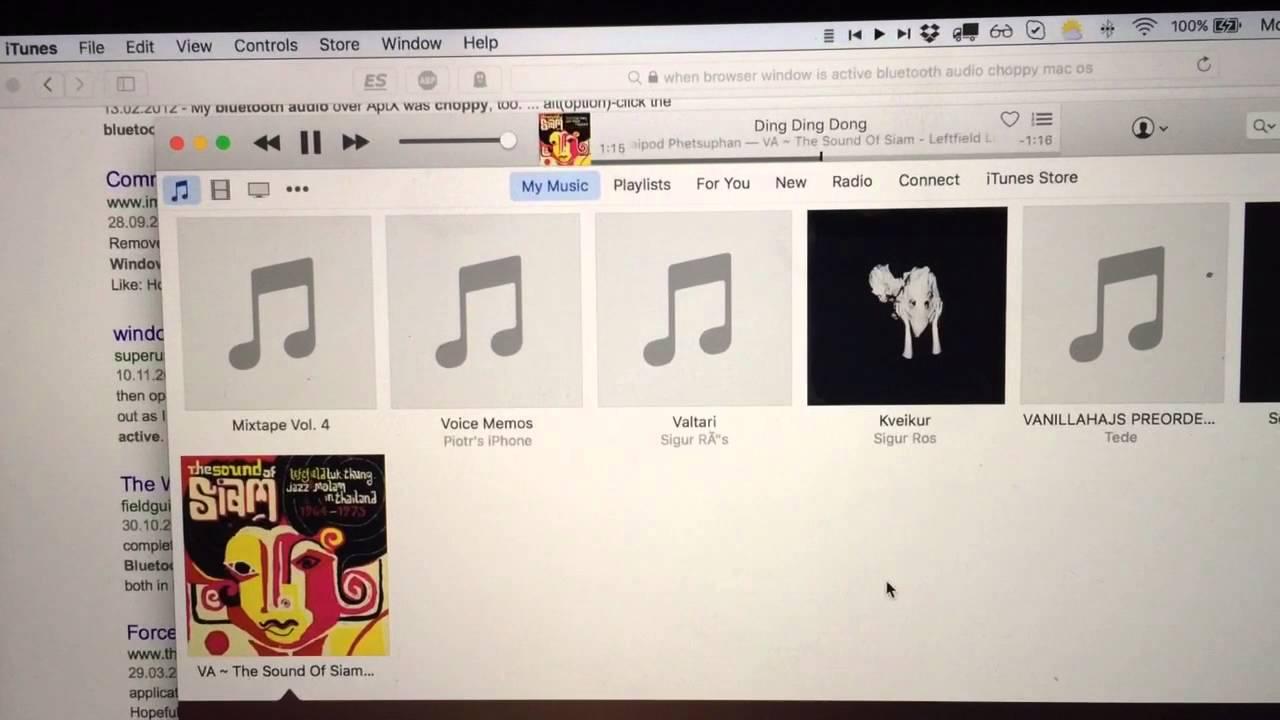 Choppy audio Bluetooth OS X El Capitan