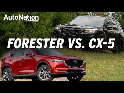 2019 Mazda CX-5 vs 2019 Subaru Forester Which is Best? #autonationdrive