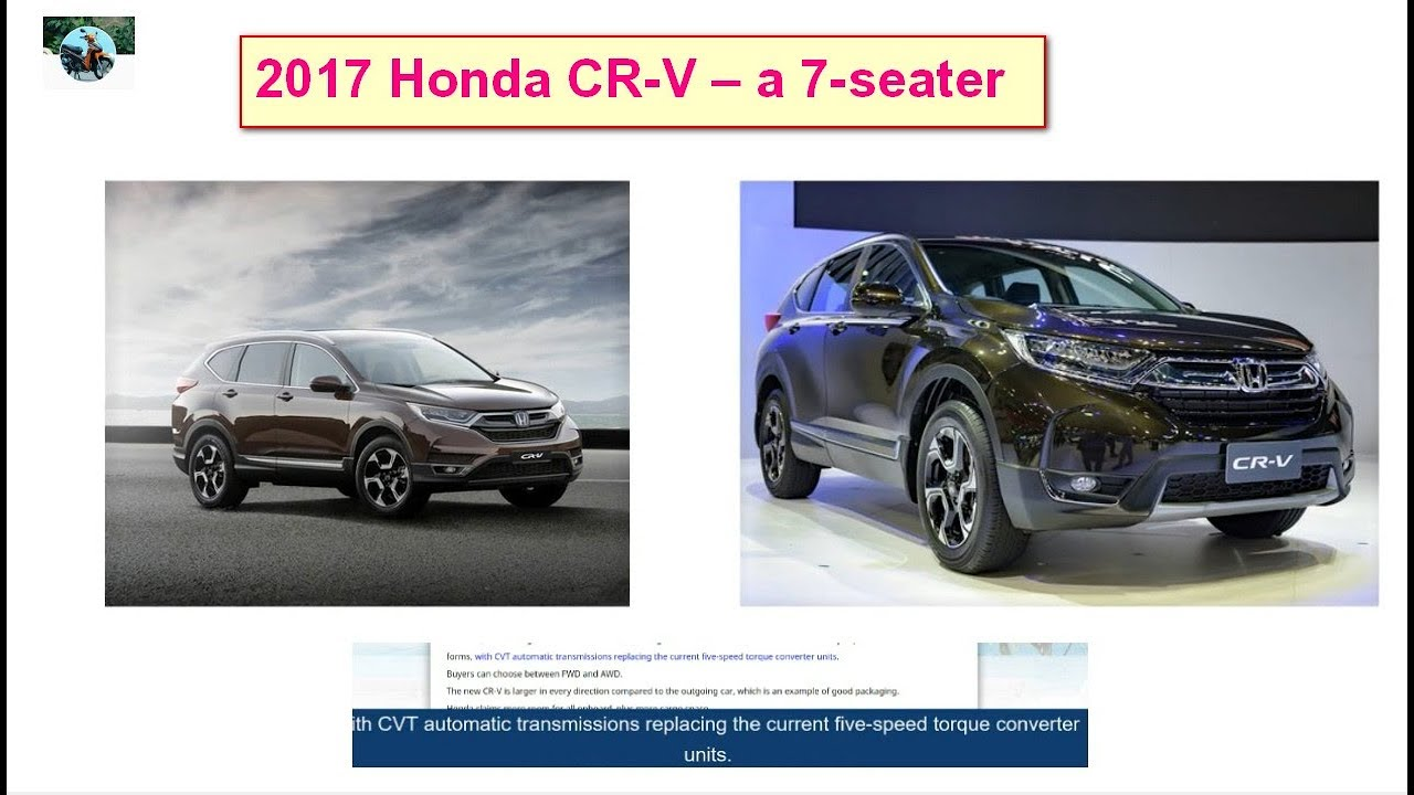 hight resolution of 2017 honda cr v a 7 seater version for australia