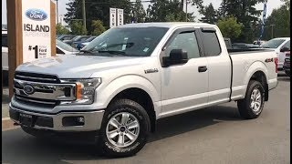 Silver 2018 Ford F-150 XLT V6 SuperCab Review| Island Ford