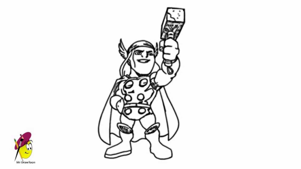 thor the super hero how to draw thor