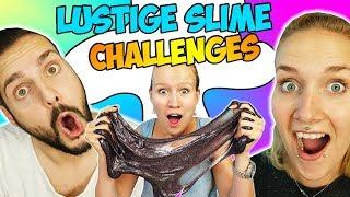 7 LUSTIGE SLIME CHALLENGES mit Kaan, Nina  & Kathi! Wer kann am besten Schleim selber machen?