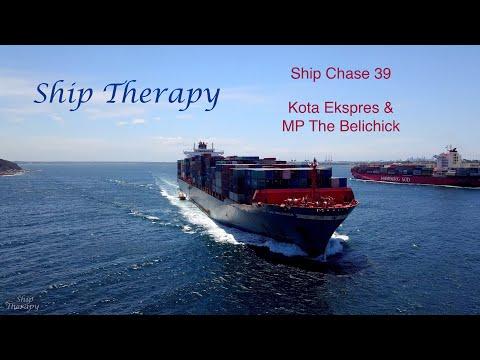 Ship Chase 39 - Kota Ekspres & MP The Belichick - all radio calls, opposing movements - Mavic Pro 4K