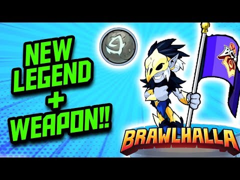 Zumwar Reacts to... *NEW* BRAWLHALLA LEGEND + WEAPON [ Dusk + Orb ]