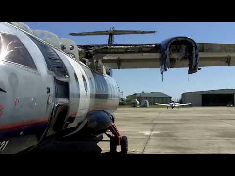 Dornier 328 N328LS being scrapped