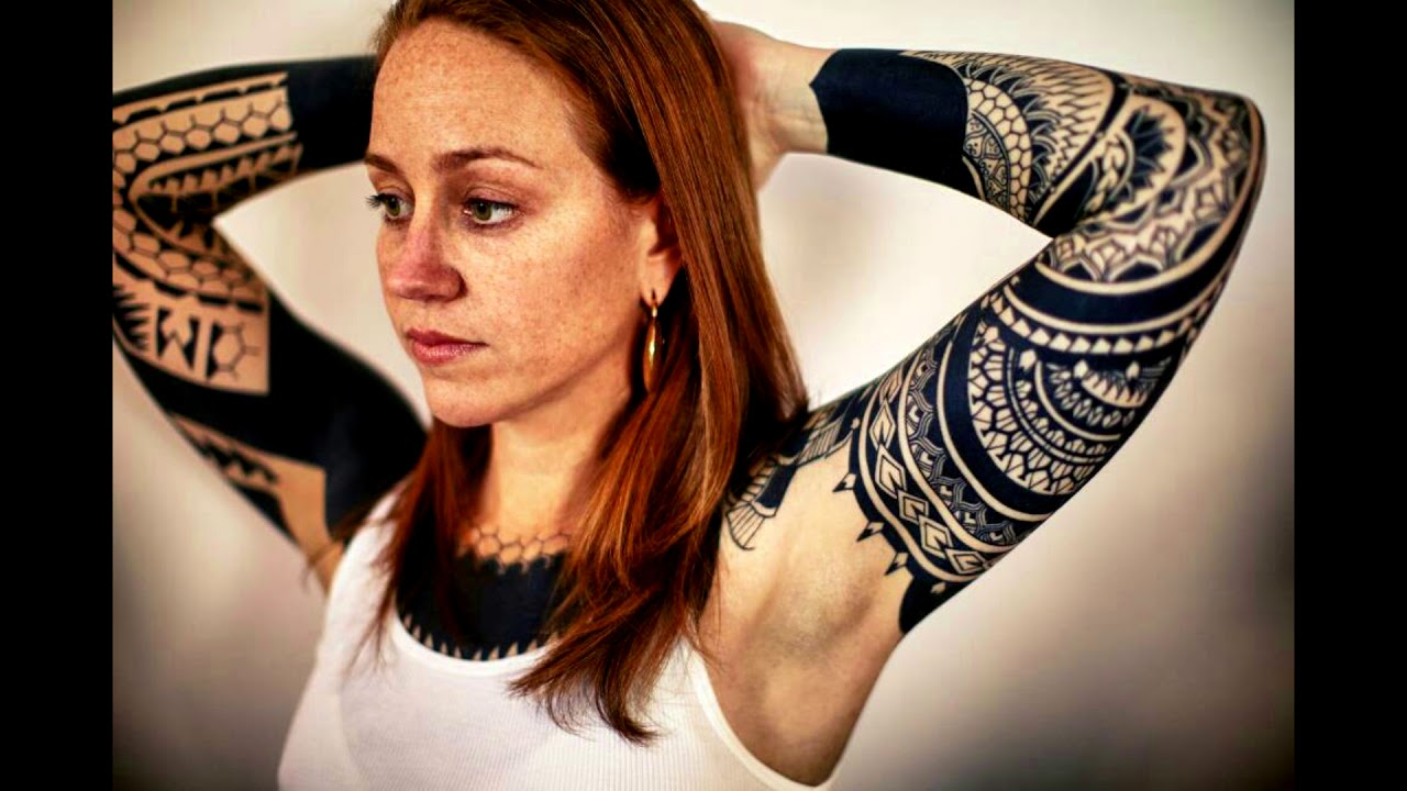 Tribal Tattoos For Woman Polynesians Shoulders Arms Sleeves Half