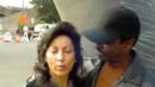 Beau and Elvina Williams at AMGEN Tour of CA  in Santa Rosa