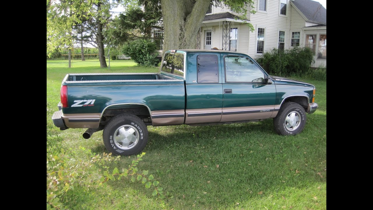 TEST DRIVE 1996 CHEVY 1500 6.5 DIESEL 4X4 EX CAB $old, see what you ...
