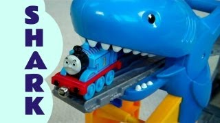 Shark Exhibit Thomas And Friends Take N Play Set Kids Toy Train + Funny Bloopers Thomas Train