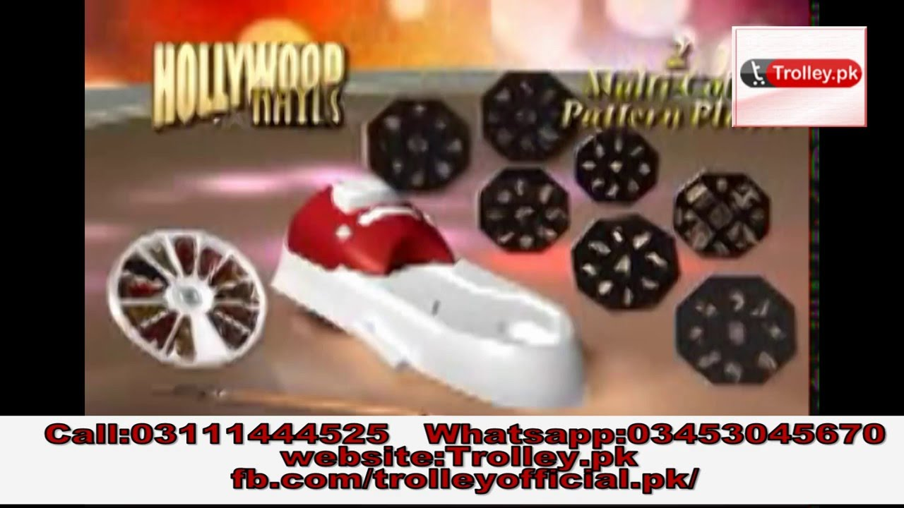Hollywood Nails All In One Nail Art System Kit - YouTube