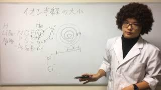 【化学基礎】イオン半径の大きさ(大小)