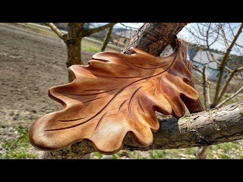 Как сделать дубовый лист из дерева, резьба по дереву