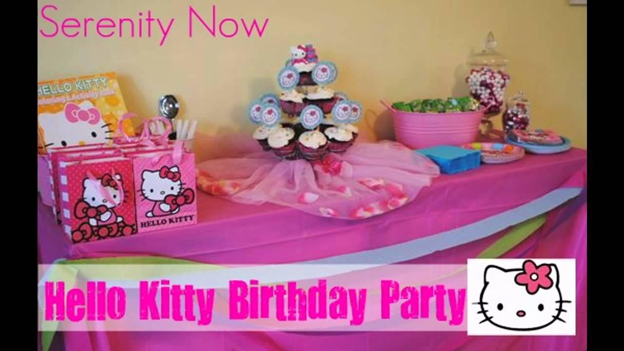 cute hello kitty party decorations ideas youtube