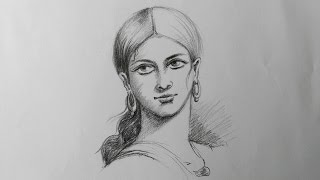 pencil face lady simple draw shading drawing drawings sketch faces drawingartpedia paintingvalley sketches