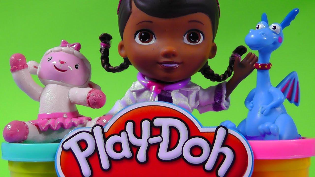 DOCTORA JUGUETES set de plastilina/PLAY DOH Doc McStuffins video ...