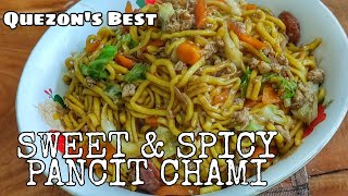 CHAMI TAMIS-ANGHANG  PANCIT CHAMI  EASY AND SIMPLE RECIPE OF SWEET &amp SPICY PANCIT  QUEZON&#39S BEST