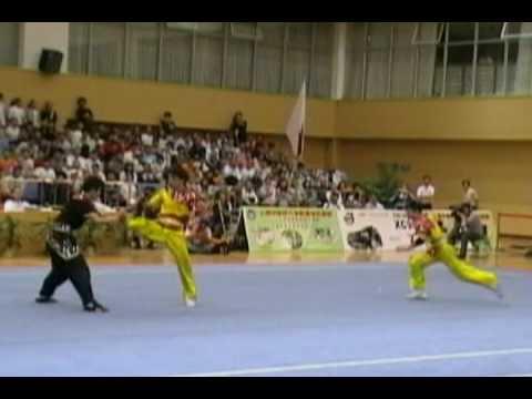 2006 China National Wushu Championship Men's Dui Lian 3 Zhao Xiao Yong Cheng Guo Qing Jiang Hua