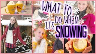 ❄ What To Do When Its Snowing ❄ Winter Season 2015 Thumbnail