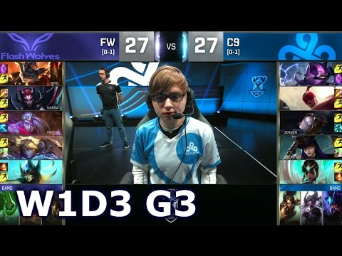 FW vs C9 - Worlds 2016 Week 1 Day 3 Group B | LoL S6 World Championship Flash Wolves vs Cloud 9