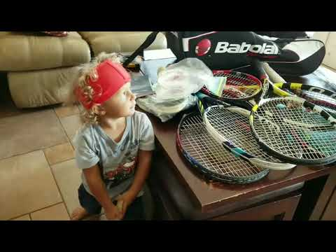 The Future of Tennis! Watch out Zvevrev Nadal Federer, this one year old child means business! Vamos