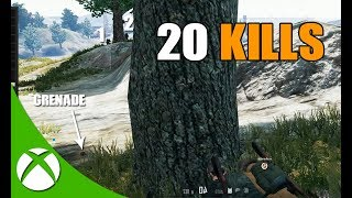 20 KILL XBOX ONE PUBG GAMEPLAY! CRAZY ENDING!!!
