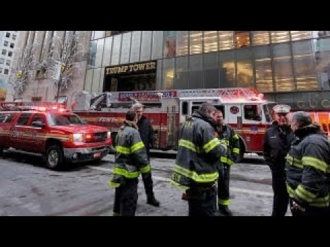 Fire breaks out on Trump Tower roof, 2 injured