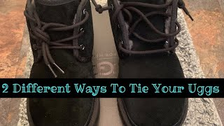 2 Different Ways To Tie Your Uggs