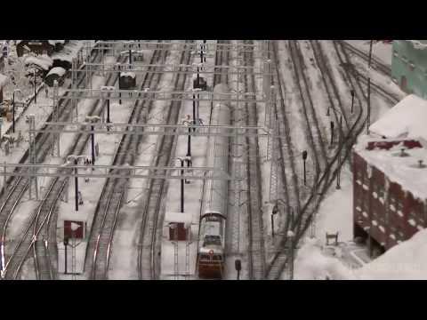 Model Railway Miniatur Wunderland at Hamburg in Germany