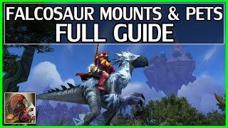 7.1 New Falcosaur Mount & Pet Guide - Talon's Vengeance Faction - WoW Legion