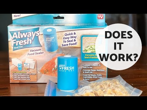 Always Fresh Seal Vac Review As Seen On TV
