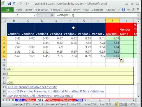 Excel Magic Trick 517 Vendor Name For Low Bid   Cheaper Than Next