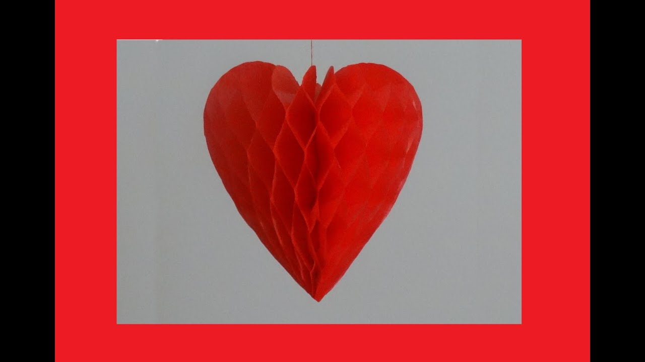 How To Make Paper Honeycomb Heart
