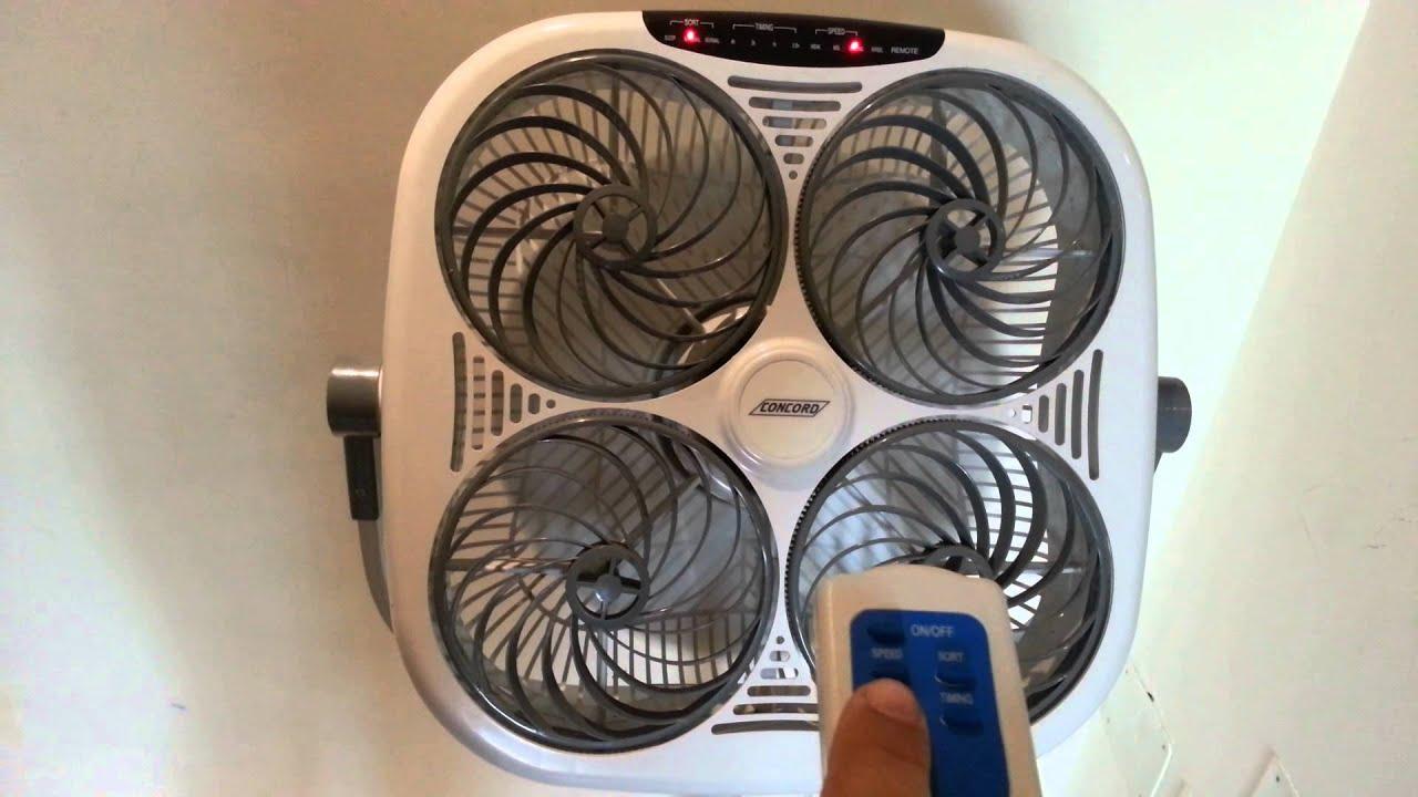 Ventilatore 4 venti con telecomando bricoshopping youtube for Ventilatore con telecomando