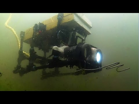 Micro DIY ROV - First Dive - Clatto Park - Dundee - Home Built Submarine Drone