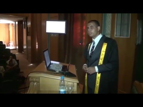Thesis Defense for the Master's Degree in Genetics, From Cairo University, by Mohamed Zamzam