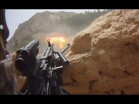 FIREFIGHT ON HELMET CAM IN AFGHANISTAN - PART 1 | FUNKER530