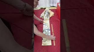 (58)三ツ山アレンジヒダと四つヒダを使用して結びました。