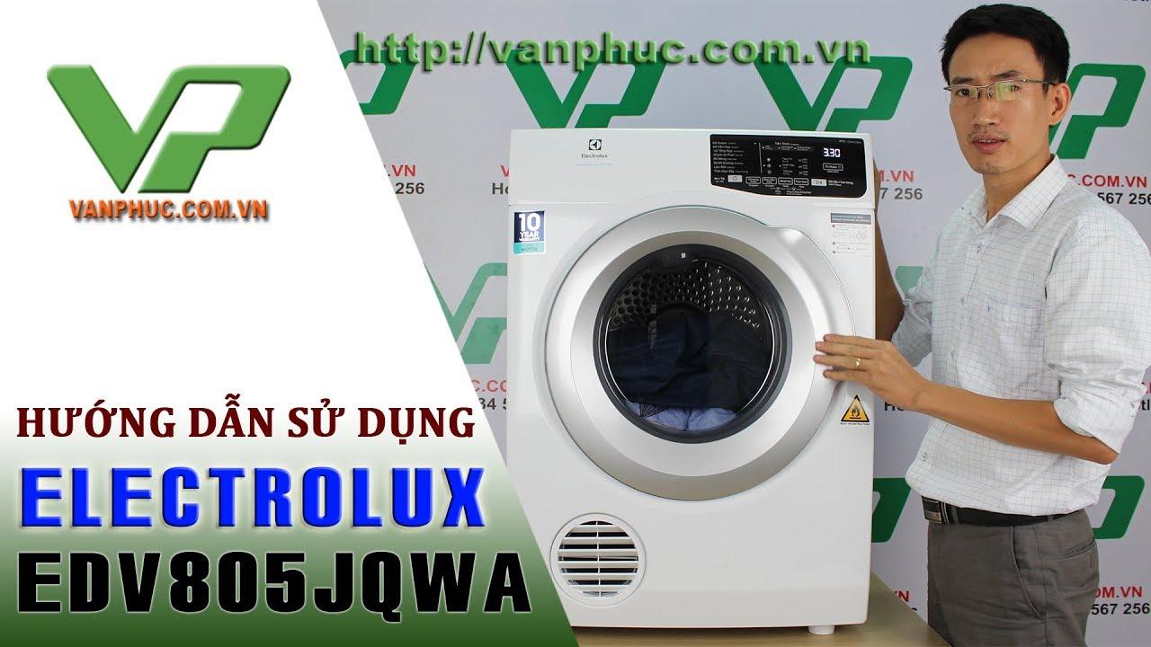 Hướng dẫn sử dụng máy sấy quần áo Electrolux EDV805JQWA chi tiết và an toàn