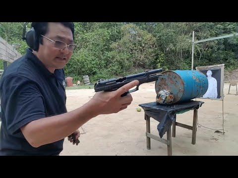 Teste baĺistico no capacete cal.9mm 40SW ETPP EXPO GOLD