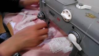 Oymalı ara dantelli kumaşa nasıl kolay geçirilir