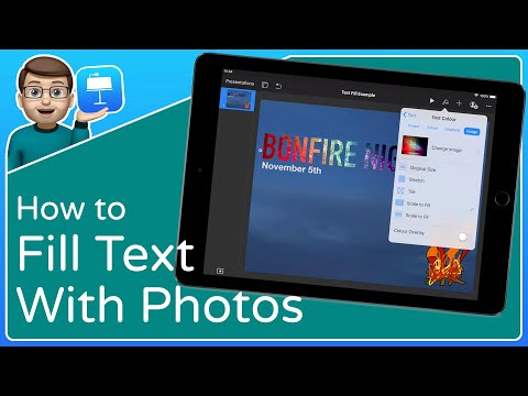 How to Fill Text and Titles with Photos in Keynote [Keynote for iOS Tutorial]