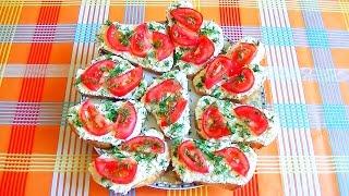 """Бутерброды с салатом """"Белочка"""""""